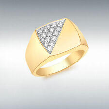 Yellow Gold Plated Signet Fashion Rings