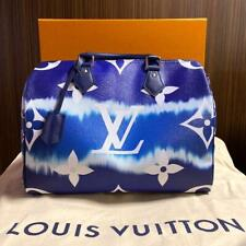 Louis Vuitton Escale Speedy 30 Bag Hand Shoulder Blue M45146 Auth LV Receipt