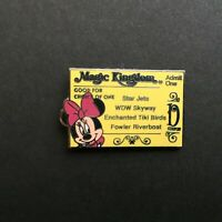 Cast Lanyard Series #3 - Magic Kingdom Ticket D / Minnie Mouse Disney Pin 34268