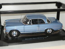 New 1:18 Norev Mercedes 280SE Coupe metallic blue W111 W112 1960s W108 detailed