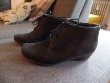 ARA Stiefelette Boots Keilabsatz Halbstiefel Leder Winter schwarz 38 39 38,5 5,5