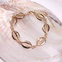 Boho Handmade Shell Bracelet Seashell Conch Cowrie Adjustable Rope Chain Jewelry