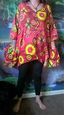 TUNIC DRESS FUNKY HIPPY BEACH PONCHO FESTIVAL HOLIDAY BOHO SD53