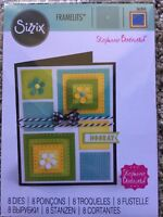 Sizzix Framelits Dies Dotted Squares by Stephanie Barnard 8 Dies 561841 New