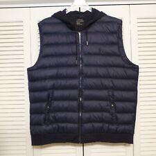Polo Ralph Lauren Performance Navy Blue Down Hoodie Puffer Vest sz Men's X-Large