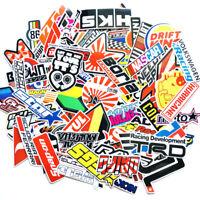 100PCS Racing JDM Stickers Motocross Racing Helmet Skateboard Bicycle Laptop PVC