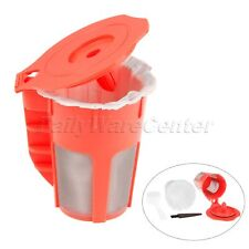 6 Refillable Reusable K-Cup My K-Cup Coffee Filter Pod for Keurig 2.0 1.0 Red