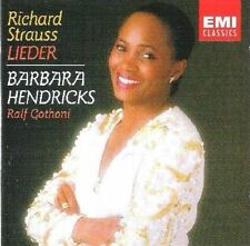 Richard R Strauss:Lieder Barbara Hendricks Rolf Gothoni ! COMPLETE LikeNew CD !