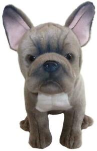 Cute Plush Dog Grey FRENCH BULLDOG - 12 '' Collectible Toy Stuffed Animal Pet