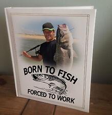 Personalised large photo album, photo memory book, fishing birthday gift