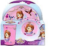 """Disney Sofia The First """"CONFISERIE COMME UN PRINCESSE"""" 3 Pièces Vaisselle set"""