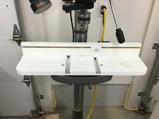 Drill Press Table With Adjustable Fence And Stop Block, Vise Compatible T-track