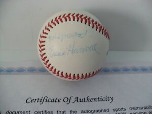 Detroit Tigers Ernie Harwell Autographed Signed Baseball COA Rawlings Leather