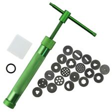 20 pcs stainless steel green crowded mud machine polymer clay fimo extruder