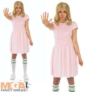 Netflix Stranger Things Eleven Dress Fancy Dress Womans Adults Costume + Socks