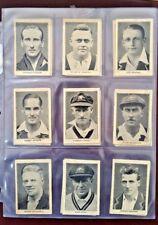 Bradman Jardine Pataudi Ponsford Larwood - Vintage 1932 Amalgamated Press Cards