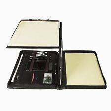 Business Padfolio Organizer Professional Portfolio Folder Leather Compact Folio