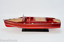 """Chris Craft Runabout 32"""" - Handcrafted Speedboat Model New"""