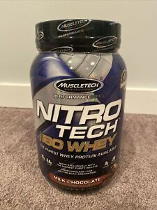 Muscletech Nitro-Tech 100% ISO Whey Protein Isolate 1.8lb 28 Serving Exp 5/22