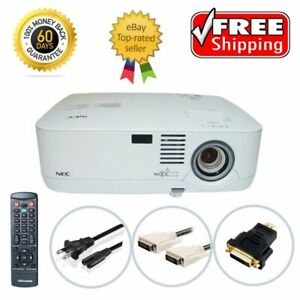 NEC NP400 3LCD Projector TeKswamp 2600 ANSI HD 1080i w/Accessories