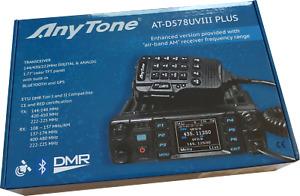 AT-D578UV III plus Tri Band Digital DMR/Analog Mobile Radio BT APRS GPS