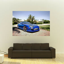 Poster of Toyota Supra Single Turbo on 360 Forged wheels Huge 54x36 Inch Print