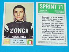 N°148 G. BEGHETTO PANINI SPRINT 71 CYCLISME 1971 RADFAHREN WIELRIJDER CICLISMO