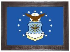 Framed 2 X 3 Foot US Military Flag - Choose From Army Marines Navy Air Force