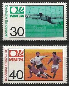 Germany West 1974 MNH World Cup Football Goalkeeper Mid-Field Mi-811/ SG-1707/08