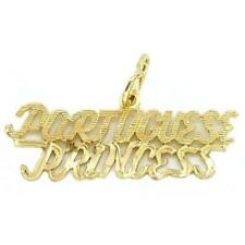 14k Yellow Gold Portuguese Princess Charm Jewelry 10mm