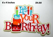 It'S Your Birthday Title girl boy scrapbook premade paper piecing by Rhonda