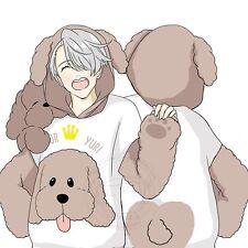 New Cute Anime YURI!!! on ICE Dog Cosplay Coat Sweatshirt Hoodie Sweater Outwear