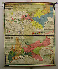 Murs carte mural carte preuszen prusse 1415-1806-1871 166 x202cm ~ 1910