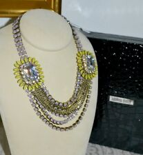 NIB $1295 RODRIGO OTAZU Lavendar Citrine DNA Cut Crystal Statement Necklace Wow!