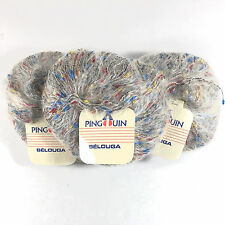 Pingouin Belouga DK Mohair Blend Yarn Knitting Crochet Weave Gray #1 Bag of 3