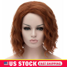 Black Widow Cos Anime Wig The Avengers Alliance Cos Short Hair Full Wigs