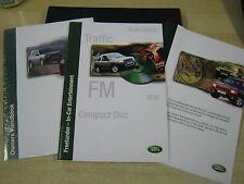 LAND ROVER FREELANDER OWNERS MANUAL HANDBOOK PACK  1997-2003 CD & SERVICE BOOK