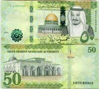 SAUDI ARABIA 50 RIYALS 2016 P 40 UNC