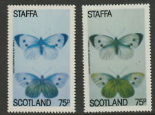 GB Locals - Staffa 909672 - 1979 BUTTERFLY 75p - two superb shades mnh
