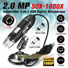 1600x Zoom 3in1 Hd Usb Microscope Digital Magnifier Endoscope Video Camerastand