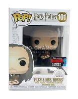 MINT Funko Pop Harry Potter Filch & Mrs Norris 2019 NYCC Exclusive Vinyl Figure
