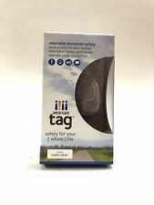 Wearsafe Tag Wearable Personal Safety Device Dark Gray New!