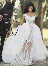 Satin Portrait/Off-Shoulder Cap Sleeve Wedding Dresses