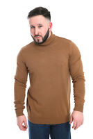 MENS POLO NECK JUMPER CASUAL WEAR KNITTED ROLL TURTLE NECK PULLOVER 100% COTTON