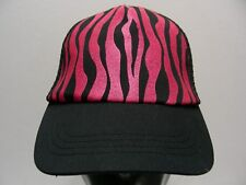 Glitter Rosa - Rayas Cebra - NIÑA Talla Snapback Ajustable Gorra Sombrero
