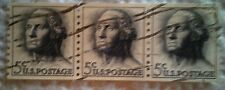 1962 U. S. Scott 1229 George Washington Coil 3 used cancelled 5 cent stamps
