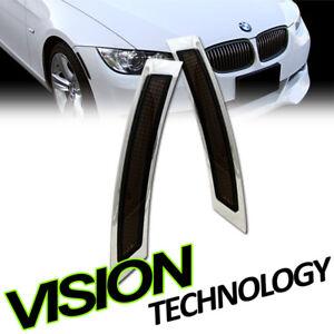For 07-12 BMW E92/E93 2D 2Dr Coupe Smoke Front Bumper Side Marker Lights Lamp k2