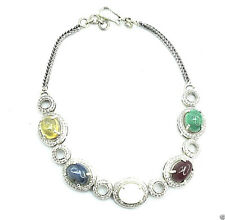 14.50Cts 14K White Gold Diamond And Gemstone Braclet