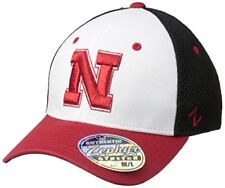 sneakers for cheap 24a0c 80df9 ... where to buy nebraska cornhuskers ncaa zephyr fitted stretch hat cap sz  s black white red