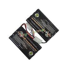 2x Ni-cd 9.6v 2400mAh Rechargeable Battery Pack Tamiya Connector